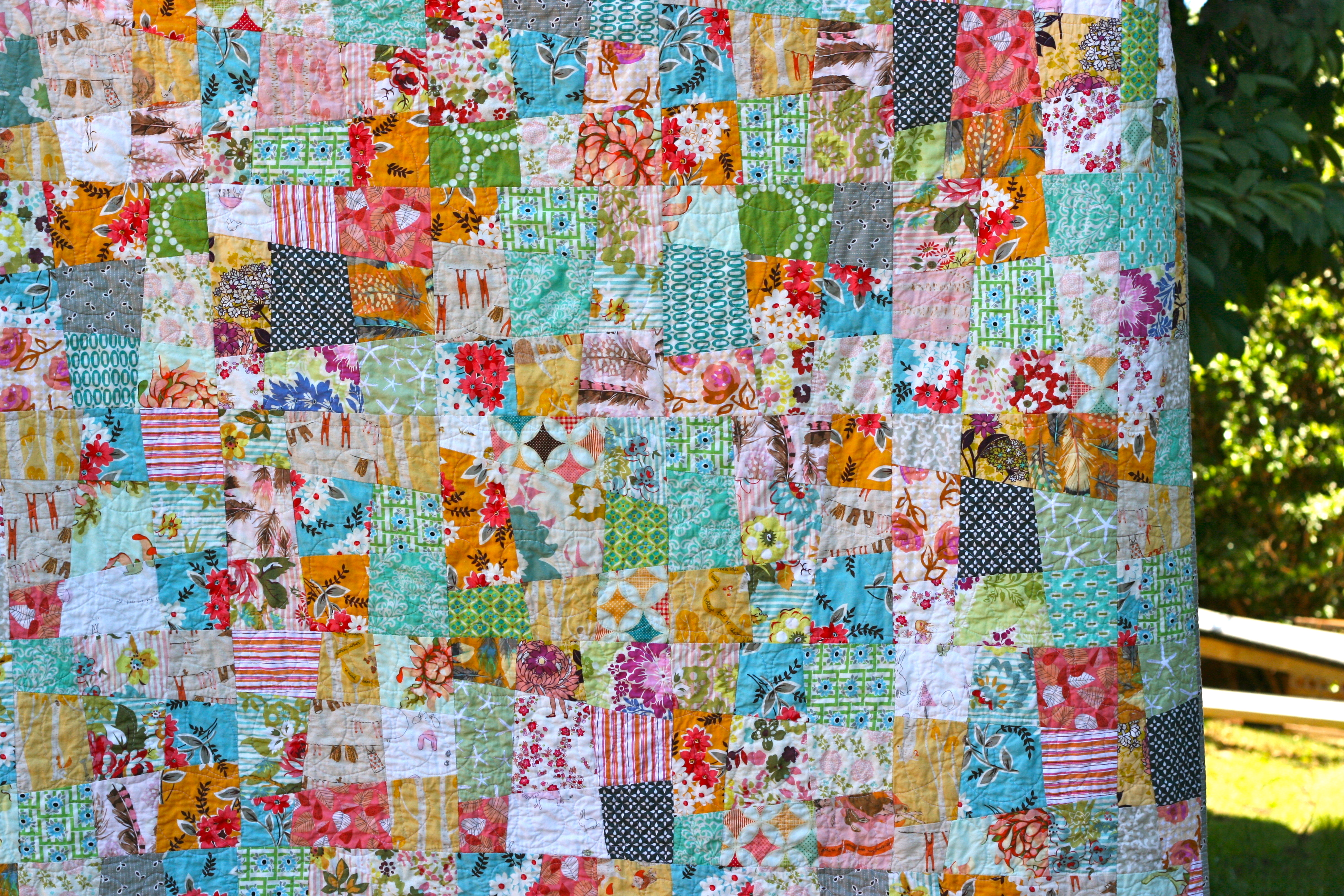 one shabby chick: A Quilt for Ada : crazy nine patch quilt - Adamdwight.com